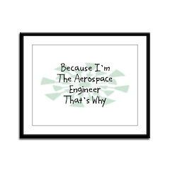 Because Aerospace Engineer Framed Panel Print