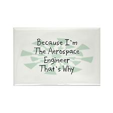Because Aerospace Engineer Rectangle Magnet