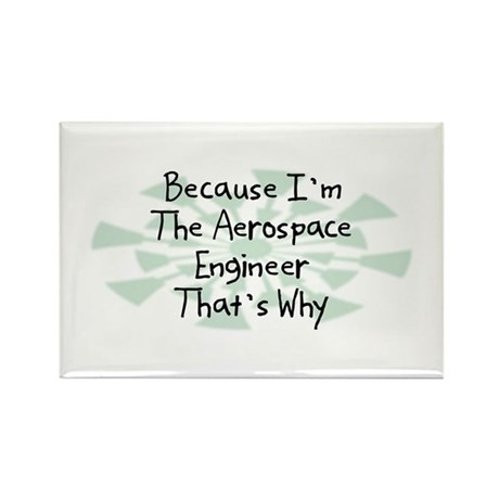Because Aerospace Engineer Rectangle Magnet (10 pa
