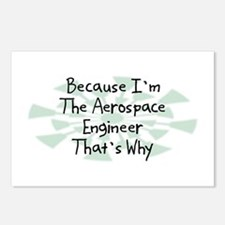 Because Aerospace Engineer Postcards (Package of 8