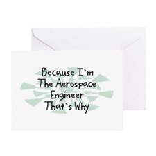 Because Aerospace Engineer Greeting Card