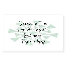 Because Aerospace Engineer Rectangle Decal