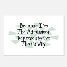 Because Admissions Representative Postcards (Packa