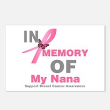 BreastCancerMemoryNana Postcards (Package of 8)