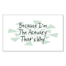 Because Actuary Rectangle Decal