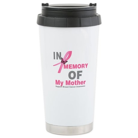 BreastCancerMemoryMother Stainless Steel Travel Mu