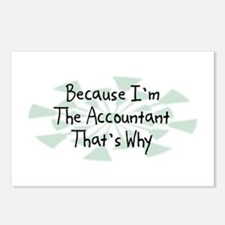 Because Accountant Postcards (Package of 8)