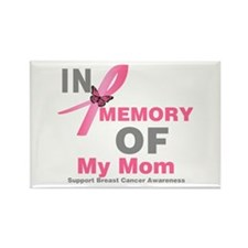 BreastCancerMemoryMom Rectangle Magnet