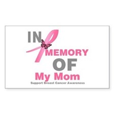 BreastCancerMemoryMom Rectangle Decal