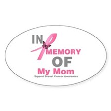 BreastCancerMemoryMom Oval Decal
