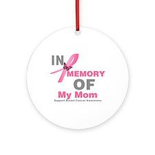 BreastCancerMemoryMom Ornament (Round)