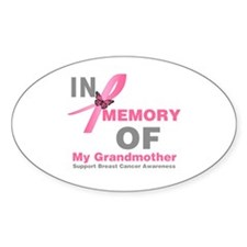 BreastCancerMemoryGrandmother Oval Decal