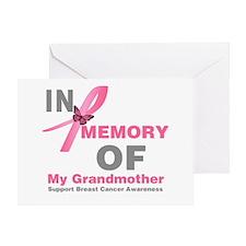 BreastCancerMemoryGrandmother Greeting Card