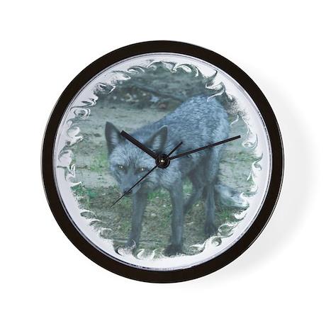 Silver Fox IV Wall Clock