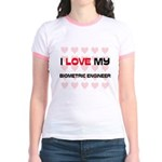 I Love My Biometric Engineer Jr. Ringer T-Shirt
