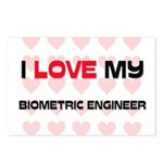 I Love My Biometric Engineer Postcards (Package of