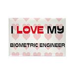 I Love My Biometric Engineer Rectangle Magnet