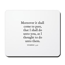 NUMBERS  33:56 Mousepad