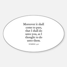 NUMBERS 33:56 Oval Decal