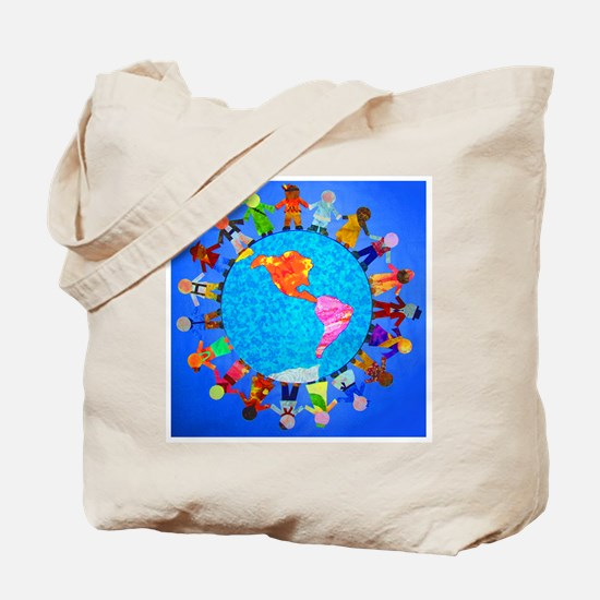Peaceful Children around the World Tote Bag