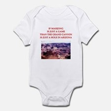 funny mahjong joke Infant Bodysuit