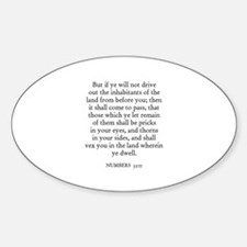 NUMBERS 33:55 Oval Decal