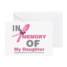 BreastCancerMemoryDaughter Greeting Card