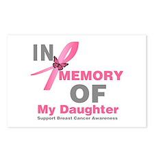 BreastCancerMemoryDaughter Postcards (Package of 8