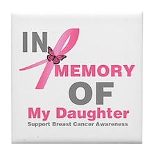BreastCancerMemoryDaughter Tile Coaster