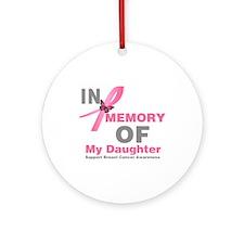 BreastCancerMemoryDaughter Ornament (Round)