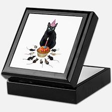Black Cat Birthday Rats Keepsake Box