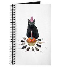 Black Cat Birthday Rats Journal