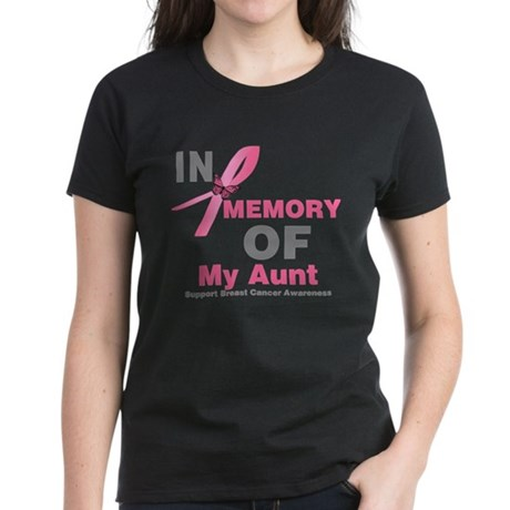 BreastCancerMemoryAunt Women's Dark T-Shirt