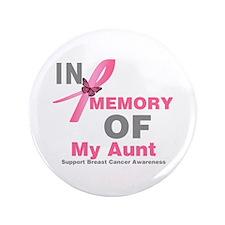 "BreastCancerMemoryAunt 3.5"" Button (100 pack)"