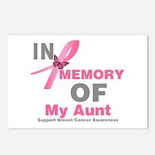 BreastCancerMemoryAunt Postcards (Package of 8)
