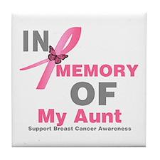 BreastCancerMemoryAunt Tile Coaster