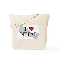 I Love Nepal Tote Bag