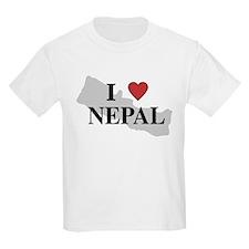 I Love Nepal Kids T-Shirt