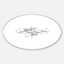 Jacob's girl Oval Decal