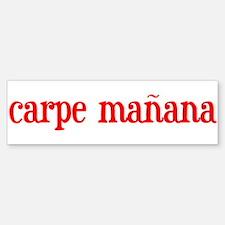 Carpe manana Bumper Bumper Bumper Sticker