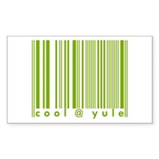 Green Cool @ Yule Urban Chic Rectangle Decal