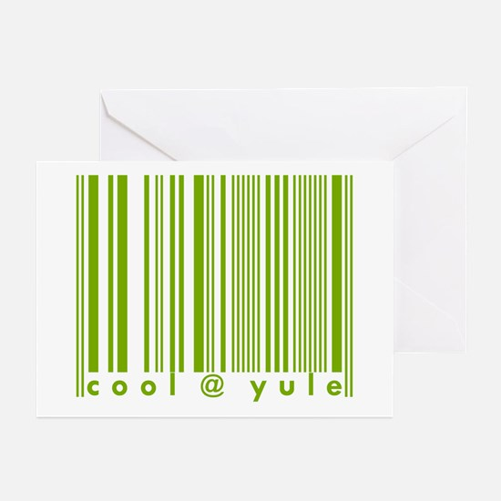 Green Cool @ Yule Urban Chic Greeting Cards (Packa