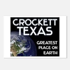 crockett texas - greatest place on earth Postcards