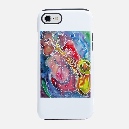 Music! Fun, colorful, sax! iPhone 7 Tough Case