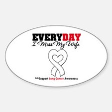 LungCancer MissMyWife Oval Decal