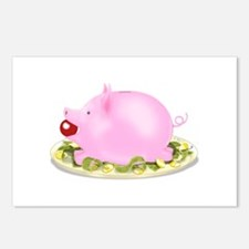 Suckling Piggy Bank Postcards (Package of 8)