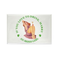 MARRY AN IRISH GIRL Rectangle Magnet (10 pack)