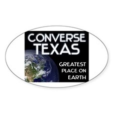 converse texas - greatest place on earth Decal