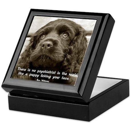 Spaniel Puppy Keepsake Box