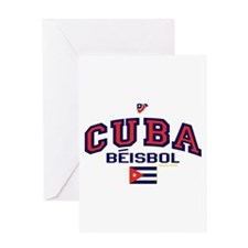 CU Cuba Baseball Beisbol Greeting Card